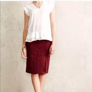 Anthro's Maeve jacquard pencil skirt